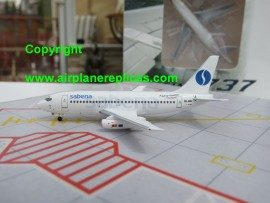 Sabena Belgian Airlines B 737-200 Flying with Swissair livery